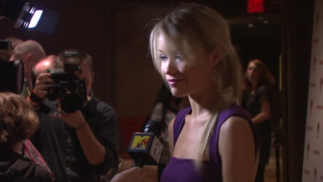 katrina bowden at the new york screening of 'sex drive' at new york ny - katrina bowden stock videos and b-roll footage
