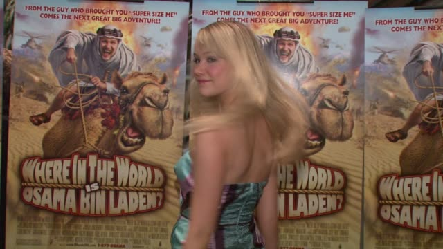 katrina bowden at the premiere of where in the world is osama bin laden at the amc loews lincoln square in new york new york on april 15 2008 - katrina bowden stock videos and b-roll footage