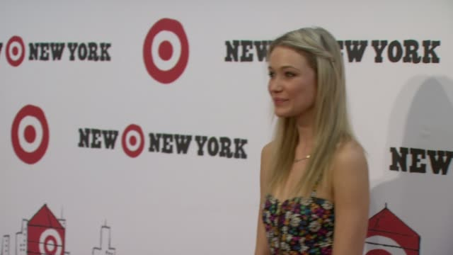 katrina bowden at the target celebrates opening of east harlem location with starstudded party at new york ny - katrina bowden stock videos and b-roll footage