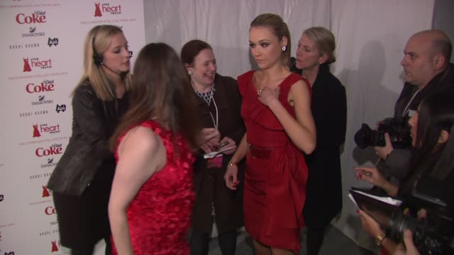 katrina bowden at the the heart truth's red dress collection arrivals fall 2011 mbfw at new york ny - katrina bowden stock videos and b-roll footage