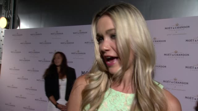 interview katrina bowden on being newly married on having children on rumors of her having a role in the 50 shades movie at moet chandon celebrates... - katrina bowden stock videos and b-roll footage