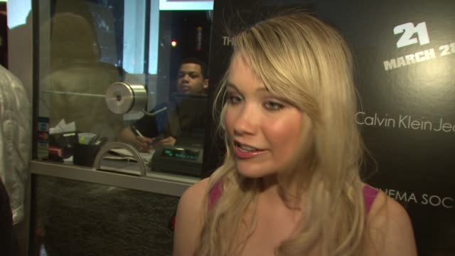 katrina bowden on what brings her out tonight being a fan of vegas but not of gambling if she thinks the saying 'what happens in vegas stays in... - katrina bowden stock videos and b-roll footage