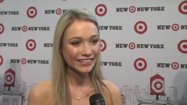 katrina bowden talking about target in ny loving target and shopping tonight at the target celebrates opening of east harlem location with... - katrina bowden stock videos and b-roll footage
