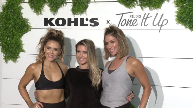katrina scott karena dawn audrina patridge at behindthescenes at kohl's x studio tone it up workout event at barker hangar in santa monica ca january... - kohls stock videos & royalty-free footage