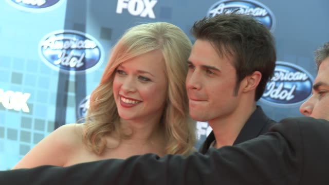 katy allen and kris allen at the fox's 'american idol 2011' finale results show at los angeles ca - american idol stock videos & royalty-free footage