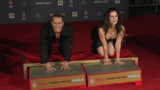 Katy Perry and Jeremy Scott at the Jeremy Scott The People's Designer Los Angeles Premiere Jeremy Scott And Katy Perry Handprint Ceremony at TCL...