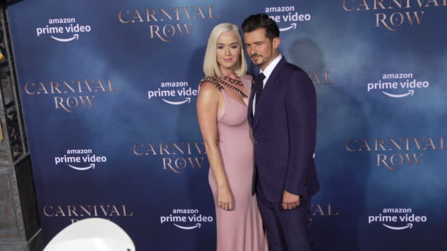 katy perry and orlando bloom at the los angeles premiere of carnival row at tcl chinese theatre on august 21 2019 in hollywood california - orlando bloom stock videos & royalty-free footage