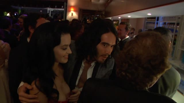 katy perry and russell brand at the inside the vanity fair oscar party 2010 at west hollywood ca. - vanity fair stock videos & royalty-free footage