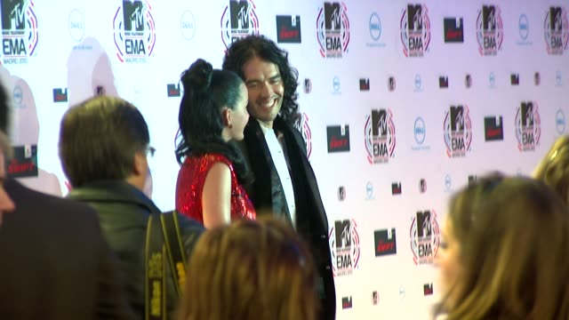 katy perry and russell brand - russell brand stock videos and b-roll footage