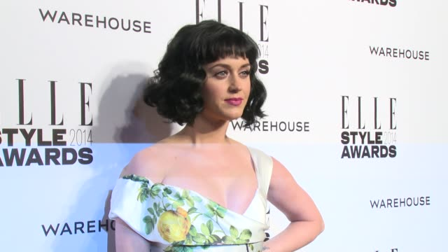 katy perry at elle style awards arrivals at one embankment on february 18 2014 in london england - embankment stock videos and b-roll footage