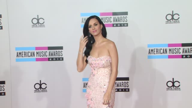 Katy Perry at the 2010 American Music Awards Arrivals at Los Angeles CA