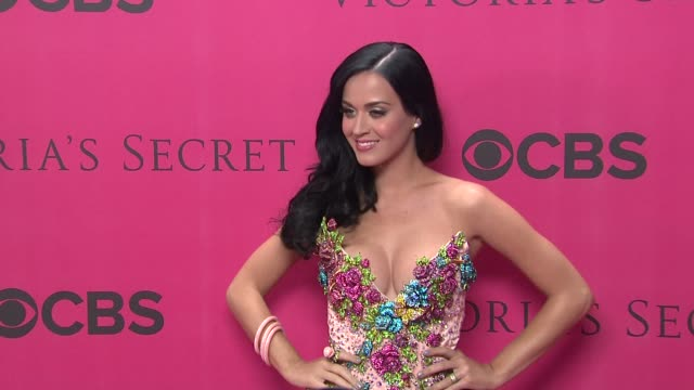 Katy Perry at the 2010 Victoria's Secret Fashion Show Pink Carpet at New York NY