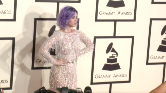 Katy Perry at The 57th Annual Grammy Awards Red Carpet at Staples Center on February 08 2015 in Los Angeles California