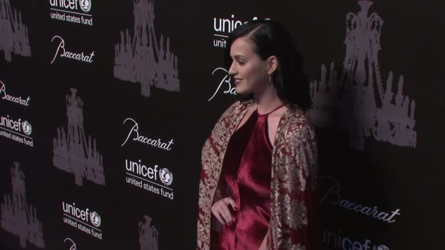 katy perry at the ninth annual unicef snowflake ball at cipriani, wall street on in new york city. - cipriani manhattan stock videos & royalty-free footage