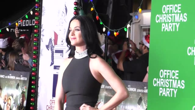 Katy Perry at the Premiere Of Paramount Pictures' 'Office Christmas Party' on December 07 2016 in Westwood California