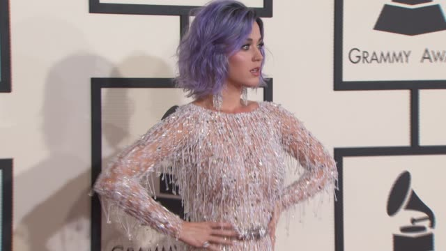 Katy Perry at the The 57th Annual Grammy Awards Red Carpet at Staples Center on February 08 2015 in Los Angeles California