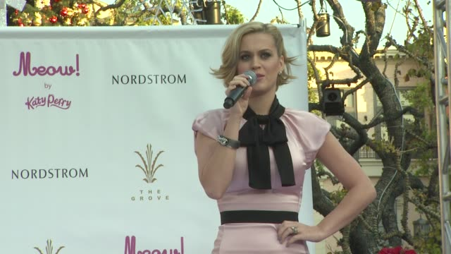 Katy Perry on her New Year's resolutions and on if she will ever perform in Singapore at MEOW By Katy Perry Fragrance Launch on 12/14/11 in Los...