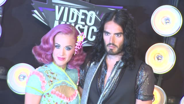 Katy Perry Russell Brand at the 2011 MTV Video Music Awards at Los Angeles CA