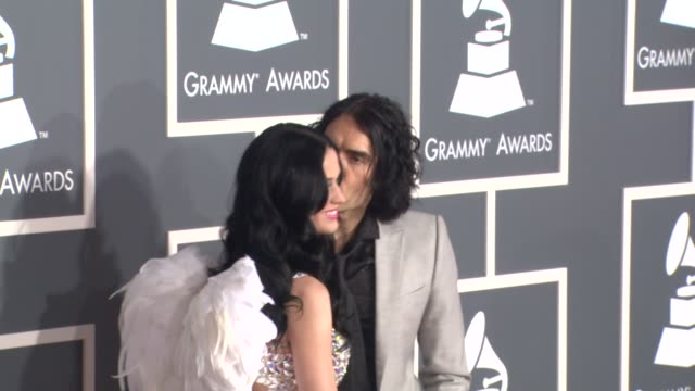 Katy Perry Russell Brand at the 53rd GRAMMY Awards Arrivals Part 3 at Los Angeles CA