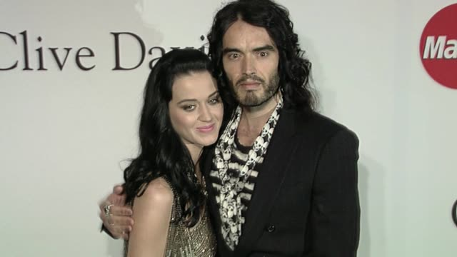 Katy Perry Russell Brand at the The Recording Academy Clive Davis Present The 2010 PreGrammy Gala at Beverly Hills CA