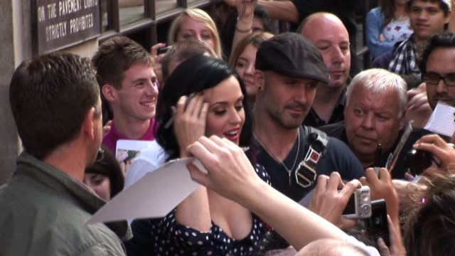 katy perry visits radio one promoting her new album celebrity sightings in london at bbc radio one studios on september 02 2010 in london england - 2010 stock videos & royalty-free footage