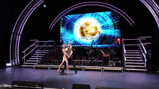 katya jones and neil jones during the strictly come dancing: the professionals photocall at elstree studios on may 2, 2019 in borehamwood, england. - ボーハムウッド点の映像素材/bロール