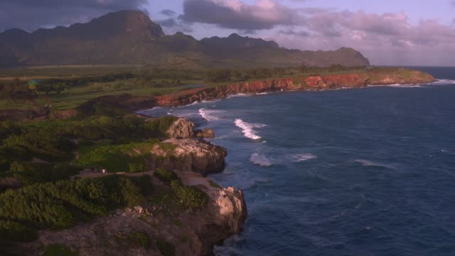kauai coastline - hawaiian culture stock videos & royalty-free footage