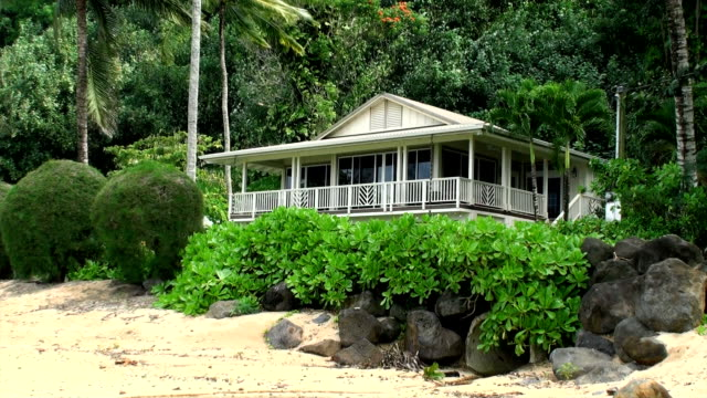 kauai - beach house stock videos & royalty-free footage