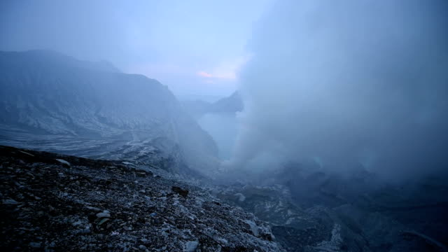 Kawah Ijen Volcano Crater Landmark Nature Travel Place Of Indonesia