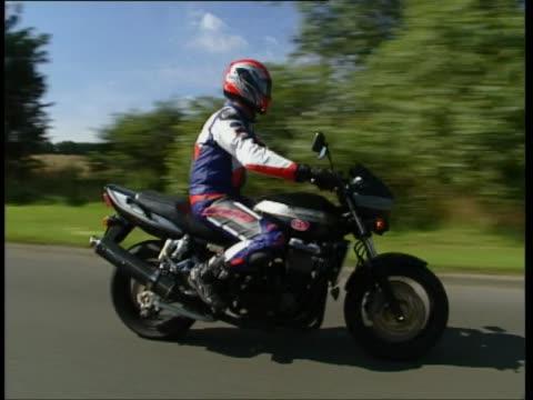 kawasaki zrx1200 - biker jacket stock videos and b-roll footage