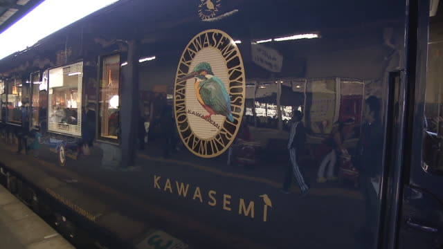 kawasemi yamasemi is an express train runs between kumamoto station to hitoyoshi station in kyushu, japan. the train was designed by an industrial... - industrial designer stock videos & royalty-free footage