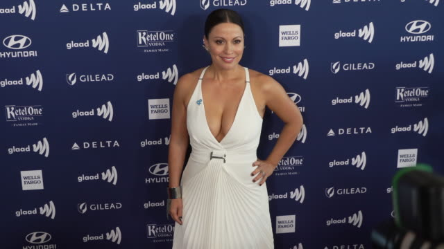 kay cannon at 30th annual glaad media awards in los angeles, ca 3/28/19 - cannon stock videos & royalty-free footage