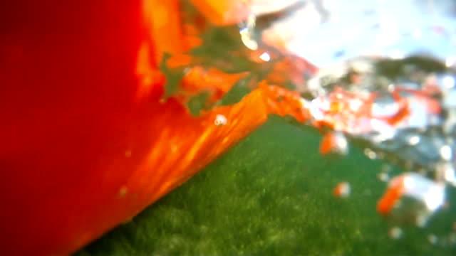 Kajak sind Rudern von Unterwasser