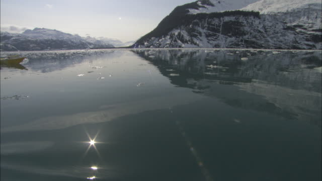 a kayaker paddles through icy prince william sound, alaska. - prince william stock videos & royalty-free footage