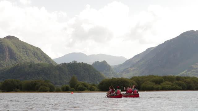 kayaking away - using a paddle stock videos & royalty-free footage