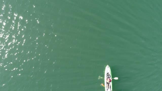 vídeos y material grabado en eventos de stock de robot kayak - kayak barco de remos