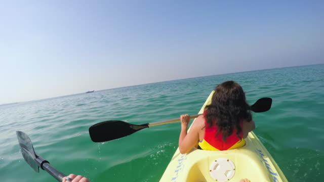 kayaking in sea - water sport stock videos & royalty-free footage