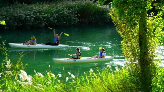 Kayaking, Jucar River, Serrania de Cuenca, Cuenca, Castilla - La Mancha, Spain, Europe