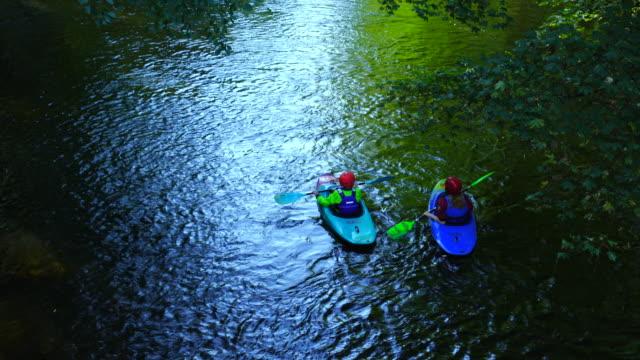 Kayaking, Rur River, North Eifel Territory, Eifel Region, Germany, Europe