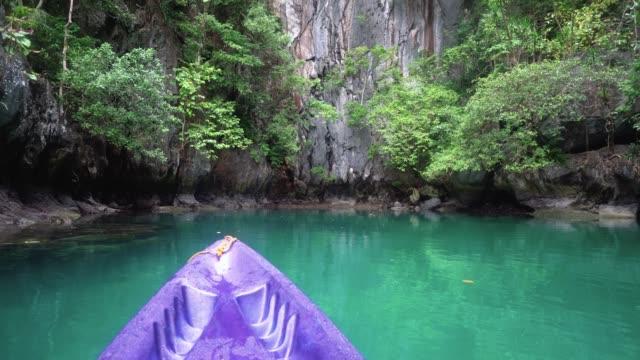 Kayaking to a beautiful Lagoon