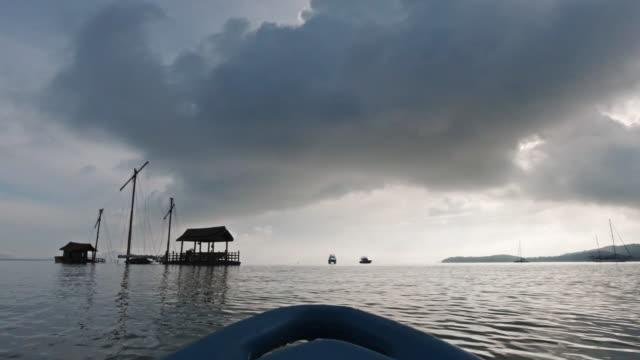 kayaking towards sunken ship at sea pov mv rawi warin grand - ross sea stock videos & royalty-free footage