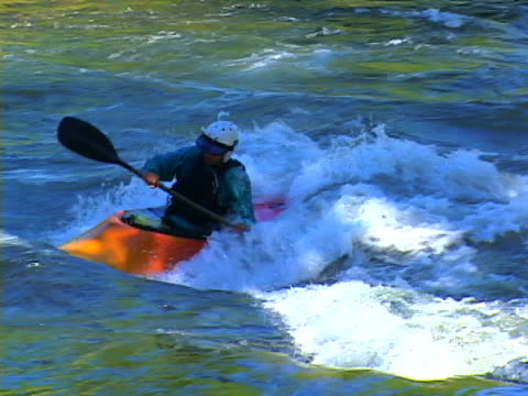 kayaking - rapid stock videos & royalty-free footage