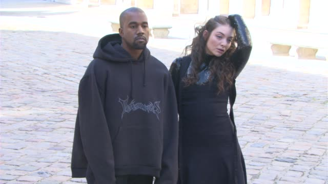 BROLL Kayne West Lorde at Christian Dior PFW A/W 2015 on March 06 2015 in Paris France