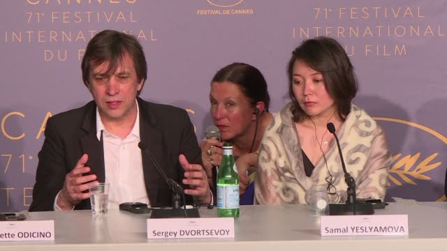 kazakh actress samal yeslyamova wins best actress at the cannes film festival for playing a jobless single mother from post soviet central asia... - 71st international cannes film festival stock videos & royalty-free footage