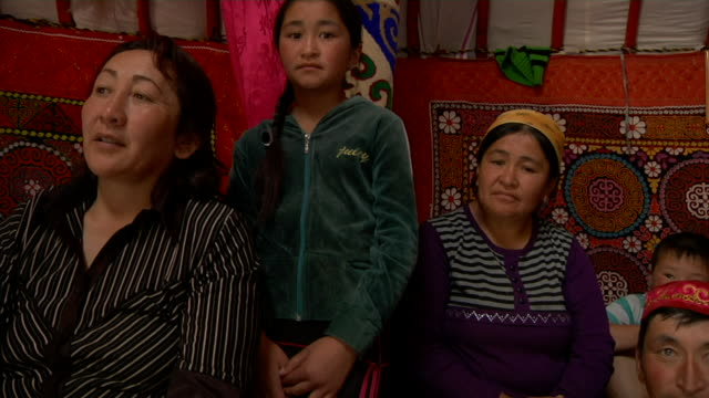 kazakh family gathered - kazakhstan stock videos and b-roll footage