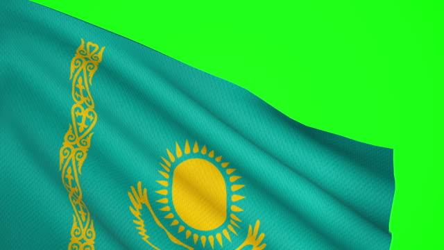 kazakhstan flag luma matte - kazakhstan stock videos and b-roll footage
