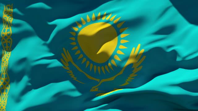 kazakhstan flag - kazakhstan stock videos & royalty-free footage