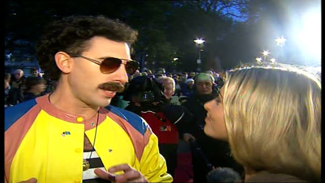 vídeos de stock, filmes e b-roll de kazakhstan government offended by sacha baron cohen's spoof journalist borat night 'borat' interview sot asking where sylvester is from is it... - sacha baron cohen