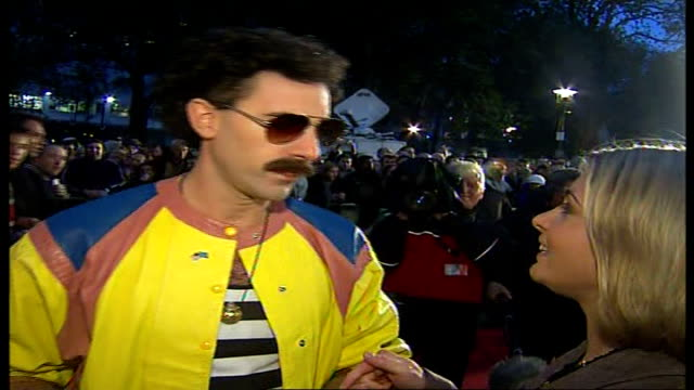 vídeos de stock, filmes e b-roll de kazakhstan government offended by sacha baron cohen's spoof journalist borat 'borat' interview sot tells reporter that in his country for a woman to... - sacha baron cohen