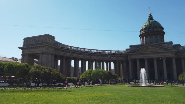 kazan cathedral st. petersburg russia - kazan russia stock videos and b-roll footage